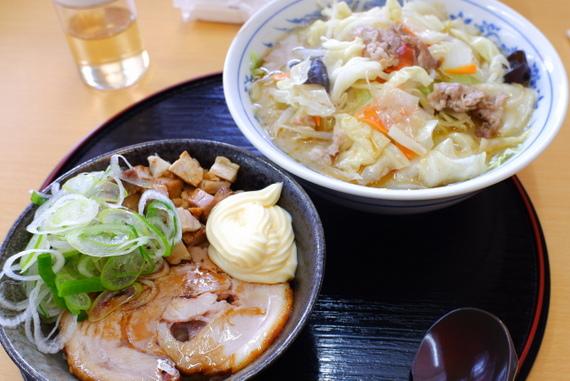 コク旨!!野菜タンメン+チャーマヨ丼