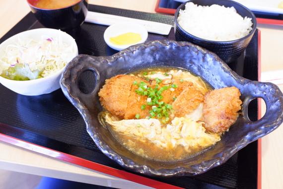 道産豚のカツ皿定食